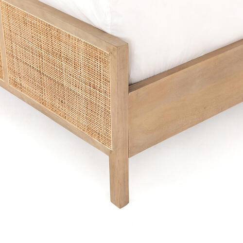 Twin Size Natural Finish Sydney Bed