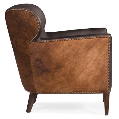 Living Room Kato Leather Club Chair w/ Dark HOH
