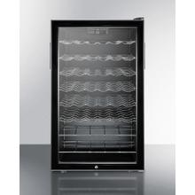 "20"" Wide Freestanding Commercial Wine Cellar Designed for the Display and Refrigeration of Beverages, With Lock and Digital Thermostat"