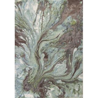 "Illusions 6203 Seafoam Watercolors 5'3"" X 7'7"""
