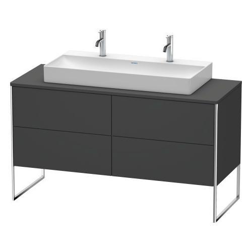 Duravit - Vanity Unit For Console Floorstanding, Graphite Matte (decor)