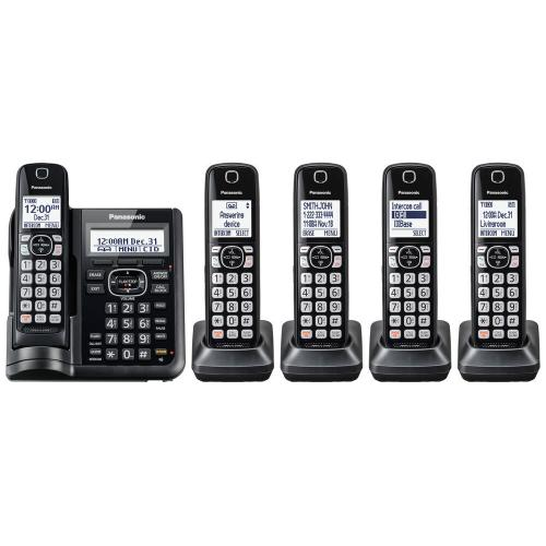 Cordless Phone with Answering Machine - 5 Handsets - KX-TGF545B