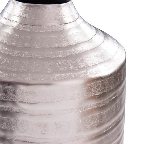 Howard Elliott - Chiseled Silver Cylinder Vase, Large