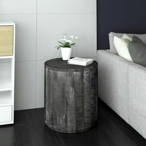 Worldwide Homefurnishings - Eva Accent Table in Distressed Grey
