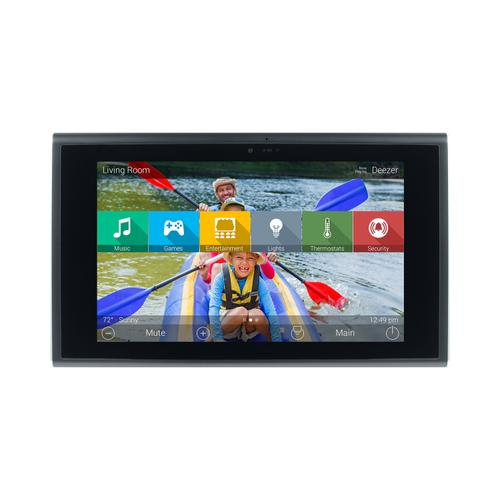 Universal Remote Control - 7-inch In-wall Touch Screen, Black + Diamond-polished Aluminum accents