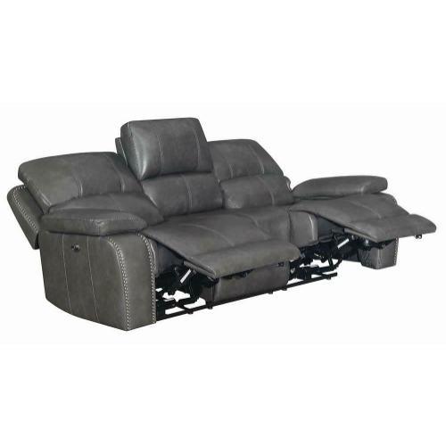 Ravenna Casual Charcoal Power Sofa