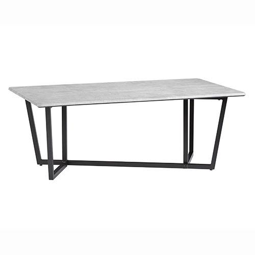 Cocktail Table - Industrial Gray/Black Metal Finish