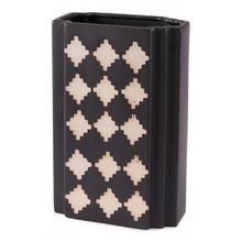 Large Pampa Rectangular Vase Black & Beige