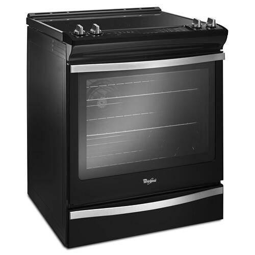 Gallery - 6.4 Cu. Ft. Slide-In Electric Range with True Convection Black Ice