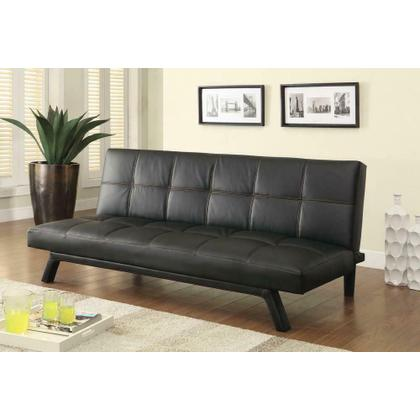 See Details - Contemporary Black Sofa Bed