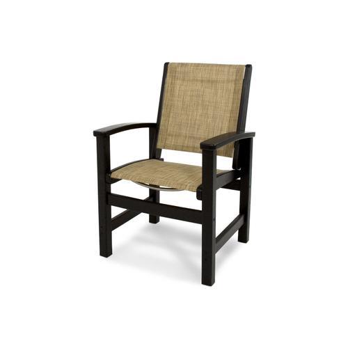 Black & Burlap Coastal Dining Chair