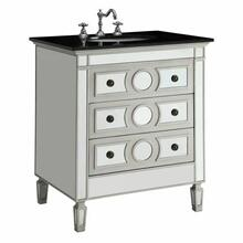 ACME Gaviya Sink Cabinet - 90335 - Black Marble & Mirrrored
