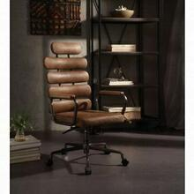 ACME Calan Executive Office Chair - 92108 - Retro Brown Top Grain Leather