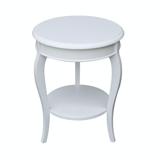 Cambria Accent Table in Pure White