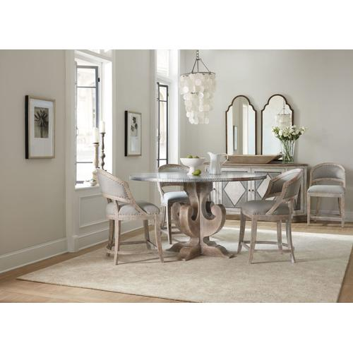 Dining Room Boheme Ascension 60in Zinc Round Table Top