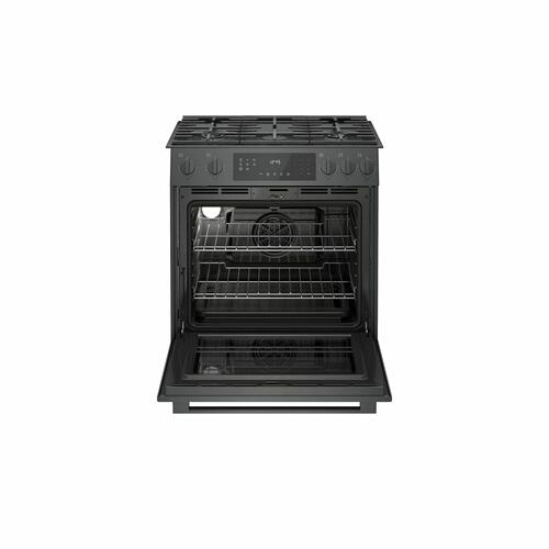 Bosch - 800 Series Gas Slide-in Range 30'' Black Stainless Steel HGI8046UC