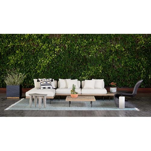 Slate Grey Ombre Finish Acme Outdoor End Table