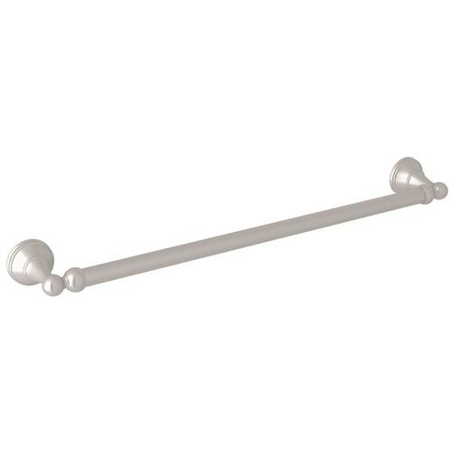"Satin Nickel Perrin & Rowe Georgian Era Wall Mount 19 1/2"" Single Towel Bar"