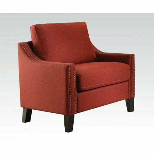 ACME Zapata Chair - 52492 - Red Linen