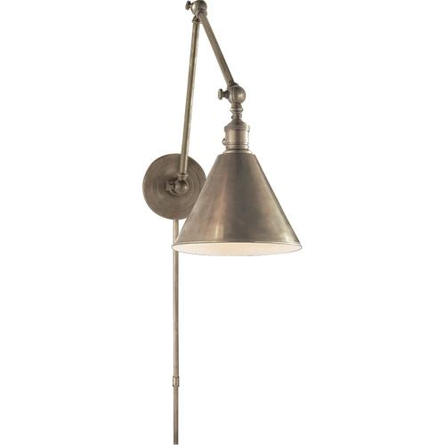 E. F. Chapman Boston 16 inch 60.00 watt Antique Nickel Task Wall Light