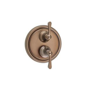 Berea Dual-control Thermostatic Valve Trim with Volume Control and Diverter - Phase out - Bronze