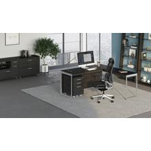 View Product - Sequel 20 6101 Desk in Charcoal Satin Nickel