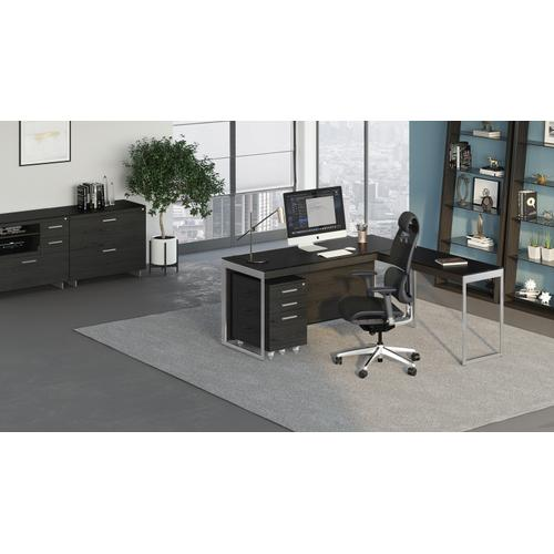 See Details - Sequel 20 6101 Desk in Charcoal Satin Nickel