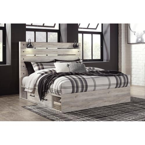 Cambeck - Whitewash 5 Piece Bed (King)