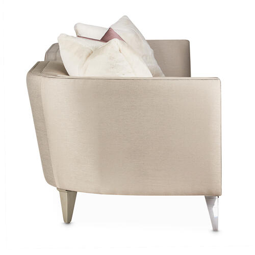 Linea Sofa Metallic Silvermist