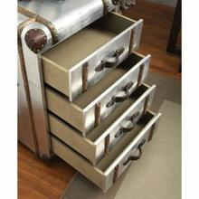 ACME Brancaster Trunk Cabinet - 70438 - Vintage Brown TGL & Aluminum