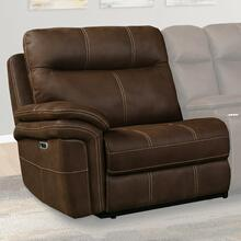 MASON - DARK KAHLUA Power Left Arm Facing Recliner