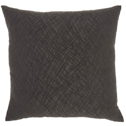 "Life Styles Et347 Charcoal 24"" X 24"" Throw Pillow"