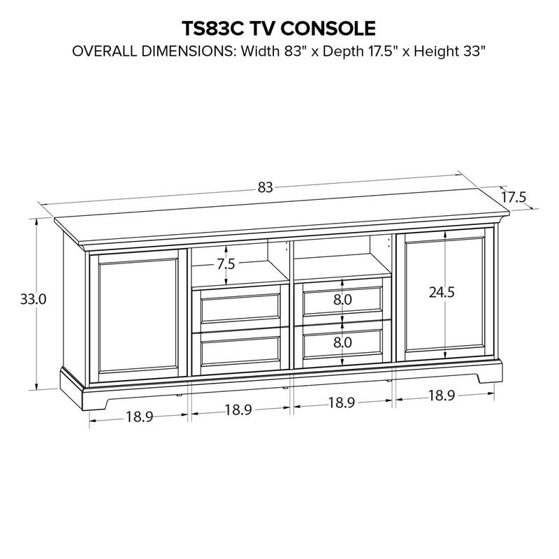 TS83C Custom TV Console