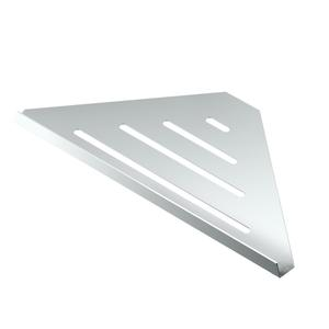 Elegant Corner Shelf in Chrome Product Image