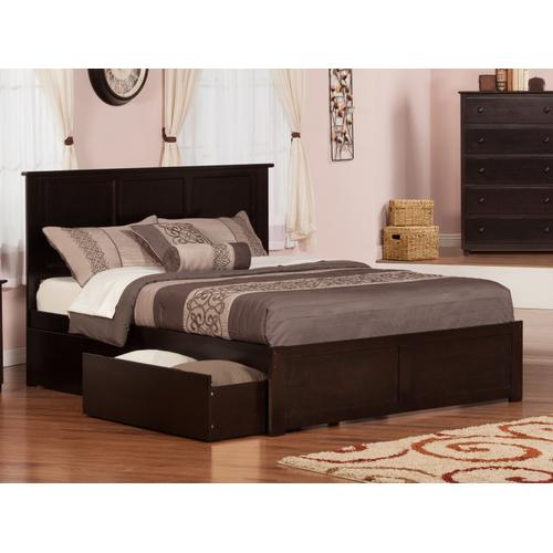 Madison King Flat Panel Foot Board with 2 Urban Bed Drawers Espresso