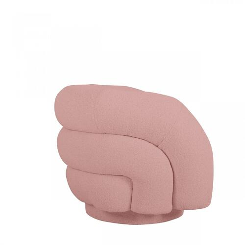 Gallery - Modrest Lamar - Modern Pink Sherpa Accent Chair