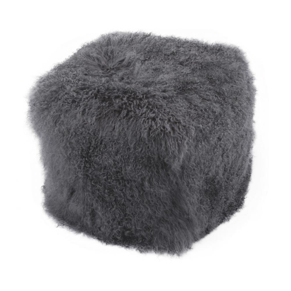 See Details - Lamb Fur Pouf Smoke