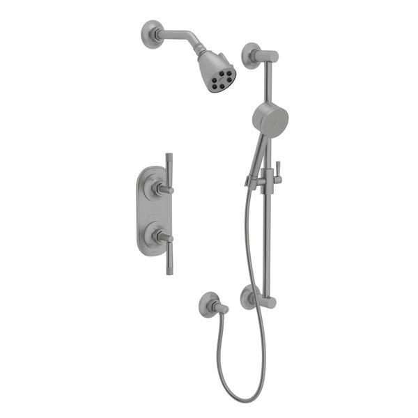 Pewter GRACELINE THERMOSTATIC SHOWER PACKAGE with Metal Lever Graceline Series Only