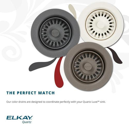 Elkay - Elkay Polymer Drain Fitting with Removable Basket Strainer and Rubber Stopper Charcoal