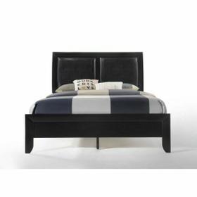 ACME Ireland I California King Bed 04151CK - Black PU & Black