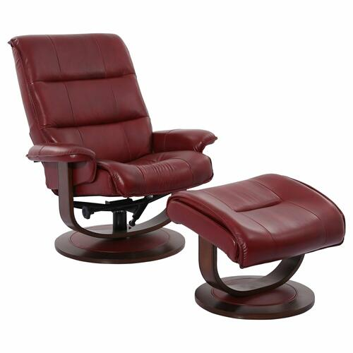 KNIGHT - ROUGE Manual Reclining Swivel Chair and Ottoman