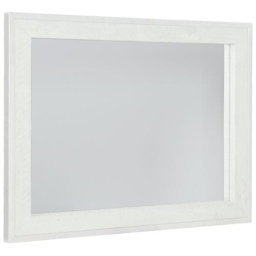 Denys Mirror in Brushed White