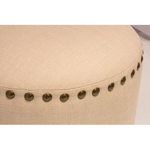 Gallery - Laura Backless Vanity Stool - Cream Fabric