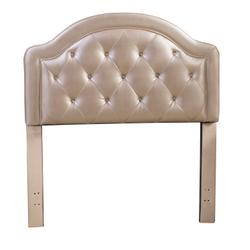Karley Complete Twin-size Headboard Set, Champagne Faux Leather