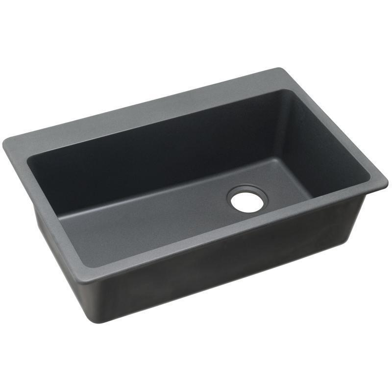 "Elkay Quartz Classic 33"" x 22"" x 9-1/2"", Single Bowl Drop-in Sink, Dusk Gray"