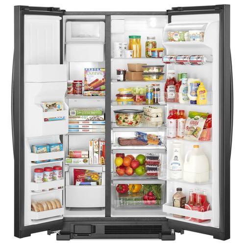 Whirlpool - 33-inch Wide Side-by-Side Refrigerator - 21 cu. ft. Black