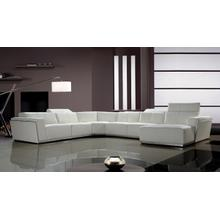 See Details - Divani Casa Tempo - Contemporary Leather Sectional Sofa