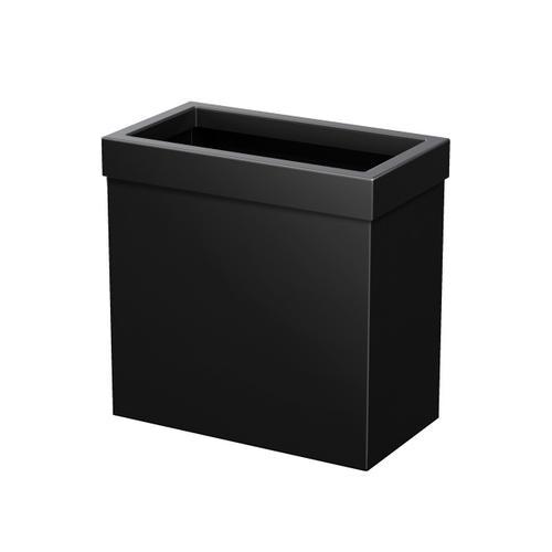 Rectangle Modern Waste Basket in Matte Black