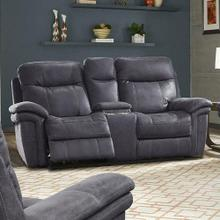See Details - MASON - CHARCOAL Power Console Loveseat