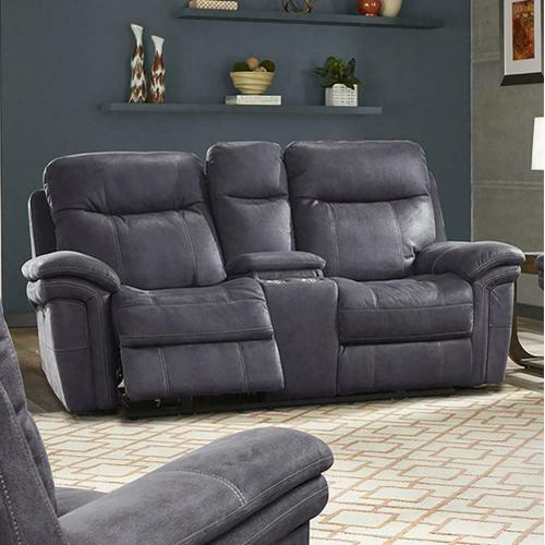 Gallery - MASON - CHARCOAL Power Console Loveseat